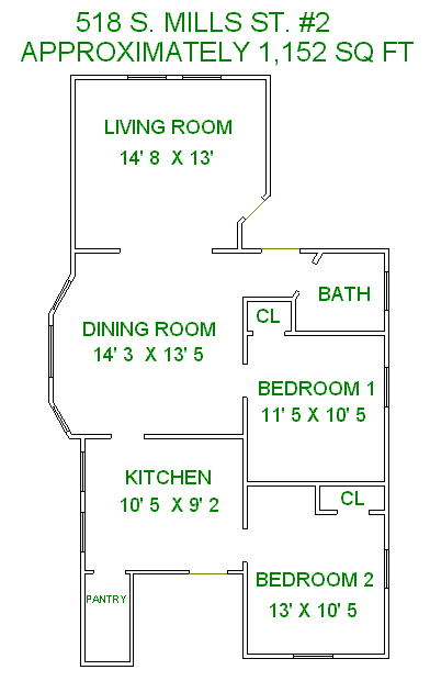 2 Bedrooms 1 Bathroom House for rent at 518 S Mills in Madison, WI