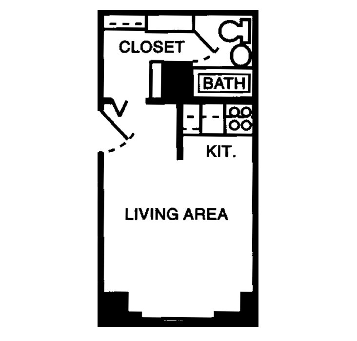 Studio 1 Bathroom Apartment for rent at The Gilmore in Memphis, TN