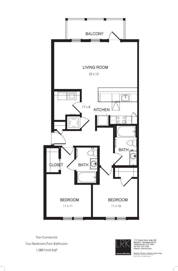 2 Bedrooms 2 Bathrooms Apartment for rent at South Junction Apartments in Memphis, TN