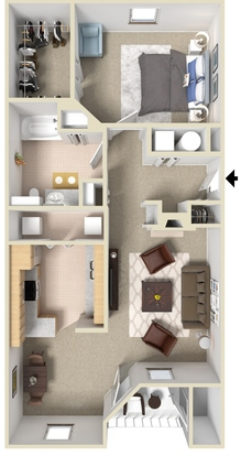 1 Bedroom 1 Bathroom Apartment for rent at South Bluffs Apartments in Memphis, TN