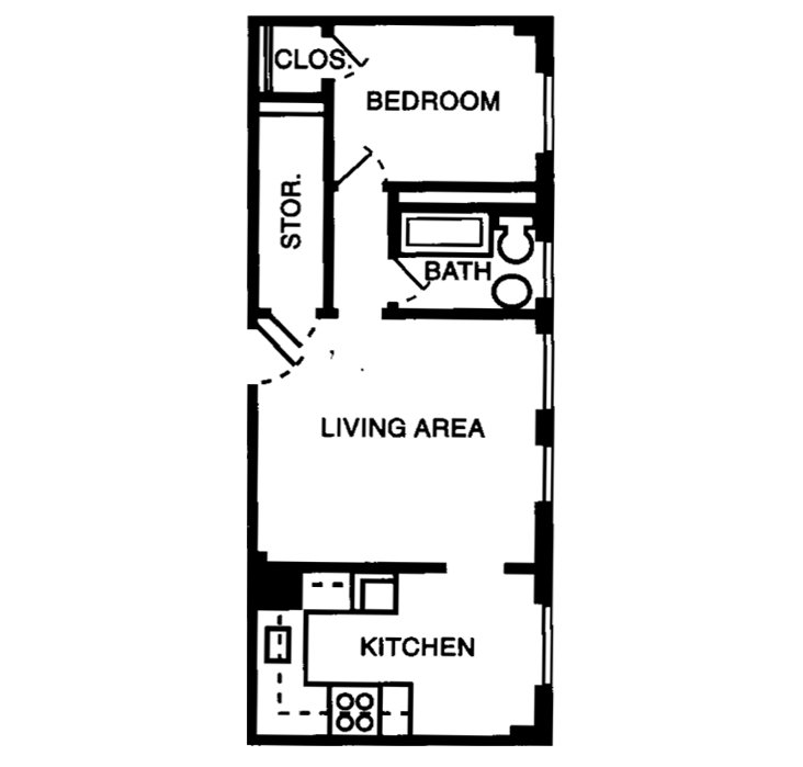 1 Bedroom 1 Bathroom Apartment for rent at The Gilmore in Memphis, TN