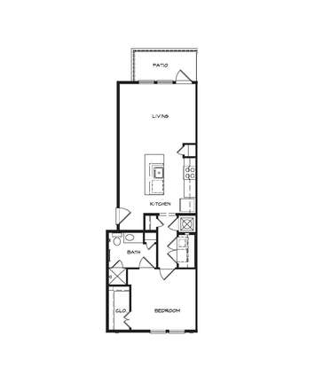 1 Bedroom 1 Bathroom Apartment for rent at South Junction Apartments in Memphis, TN