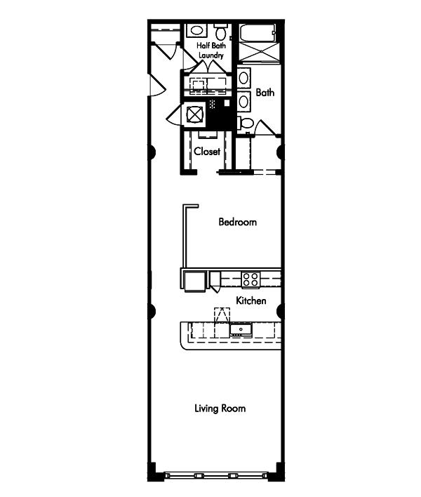 1 Bedroom 2 Bathrooms Apartment for rent at Van Fleet Flats in Memphis, TN