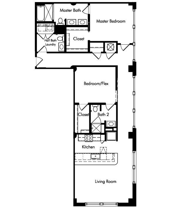 2 Bedrooms 3 Bathrooms Apartment for rent at Van Fleet Flats in Memphis, TN