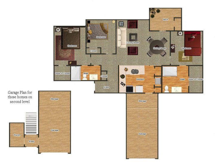 3 Bedrooms 2 Bathrooms Apartment for rent at Fieldstone Apartments in Memphis, TN