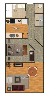 1 Bedroom 1 Bathroom Apartment for rent at Pembroke Square in Memphis, TN