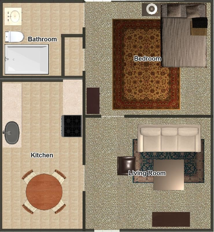 1 Bedroom 1 Bathroom Apartment for rent at The Posts in Memphis, TN