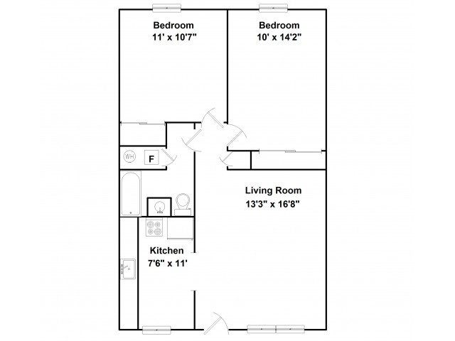 2 Bedrooms 1 Bathroom Apartment for rent at 510 S Elm in Champaign, IL