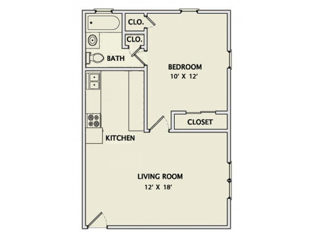 1 Bedroom 1 Bathroom Apartment for rent at State Street in Champaign, IL