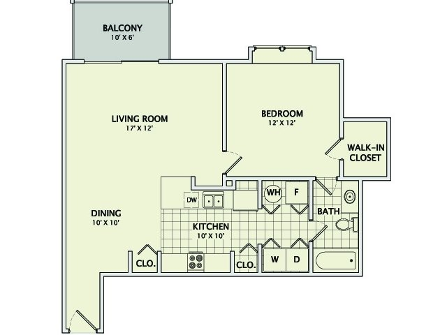 1 Bedroom 1 Bathroom Apartment for rent at Prospect Pointe East in Savoy, IL