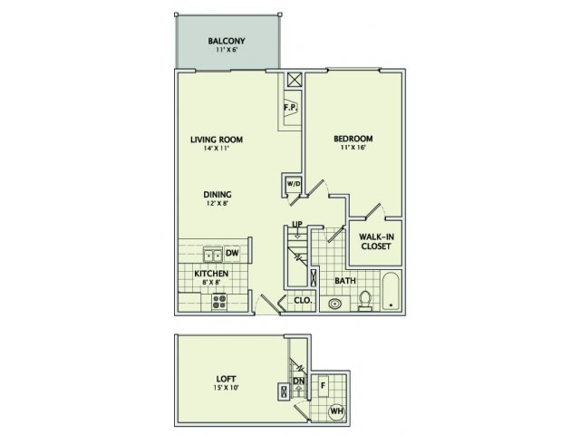 1 Bedroom 1 Bathroom Apartment for rent at Ginger Creek in Champaign, IL