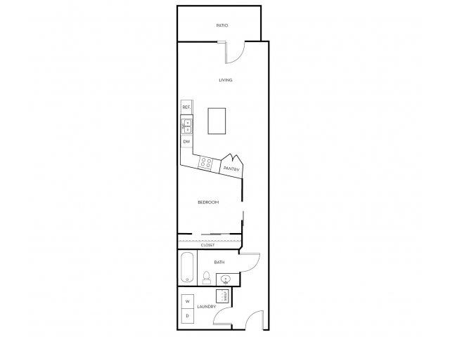 1 Bedroom 1 Bathroom Apartment for rent at Midtown 360 in Orem, UT