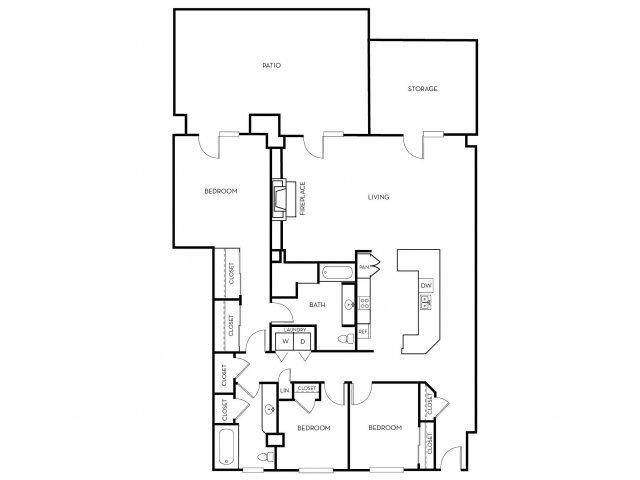 3 Bedrooms 2 Bathrooms Apartment for rent at Midtown 360 in Orem, UT