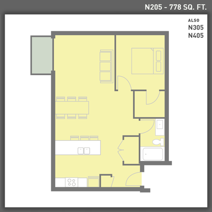 1 Bedroom 1 Bathroom Apartment for rent at Sugar House Apartments By Urbana in Salt Lake City, UT