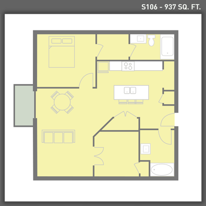 1 Bedroom 2 Bathrooms Apartment for rent at Sugar House Apartments By Urbana in Salt Lake City, UT