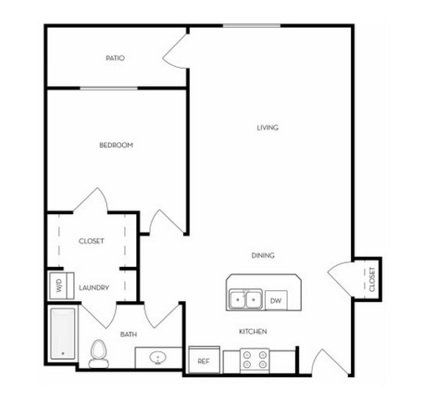 1 Bedroom 1 Bathroom Apartment for rent at The Boulevard in Orem, UT