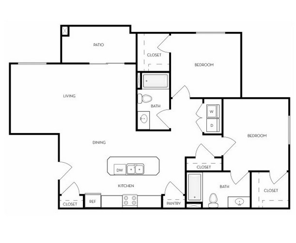 2 Bedrooms 2 Bathrooms Apartment for rent at The Boulevard in Orem, UT