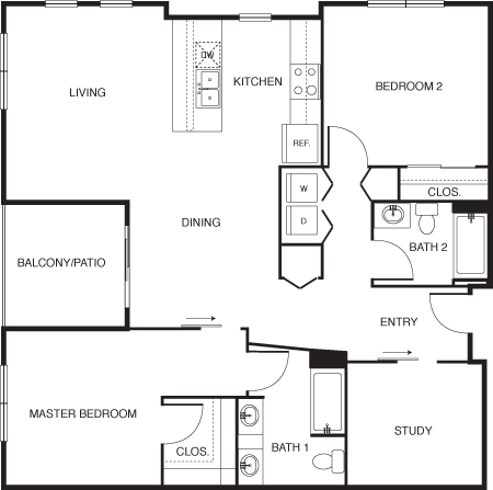 2 Bedrooms 2 Bathrooms Apartment for rent at Broadstone Gardens At Cherry Creek in Denver, CO