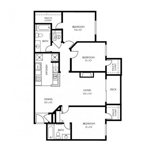 3 Bedrooms 2 Bathrooms Apartment for rent at Copper Terrace in Centennial, CO