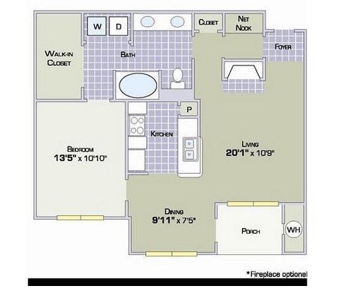 1 Bedroom 1 Bathroom Apartment for rent at Rosemont Ridge At Lowry in Denver, CO