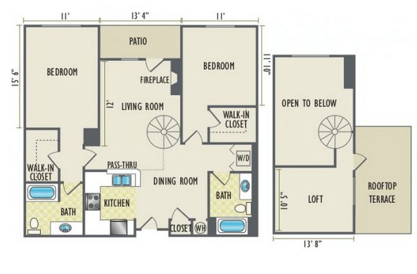 2 Bedrooms 2 Bathrooms Apartment for rent at The Station At Riverfront Park in Denver, CO