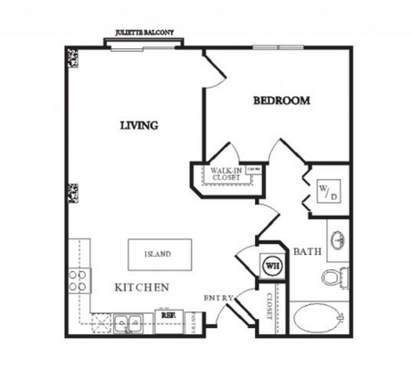 1 Bedroom 1 Bathroom Apartment for rent at Twentyone 01 On Market in Denver, CO