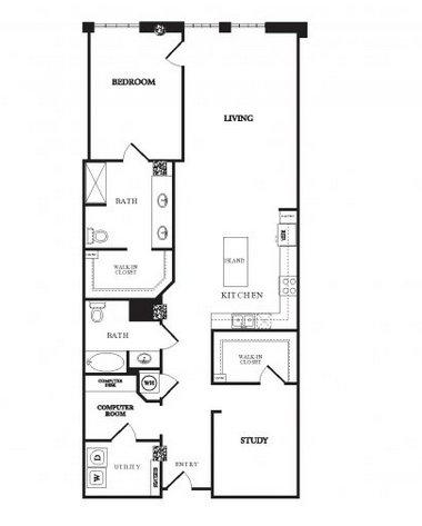 2 Bedrooms 2 Bathrooms Apartment for rent at Twentyone 01 On Market in Denver, CO