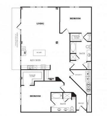2 Bedrooms 2 Bathrooms Apartment for rent at Twentyone 01 On Market in Denver, CO