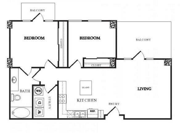 2 Bedrooms 1 Bathroom Apartment for rent at Twentyone 01 On Market in Denver, CO