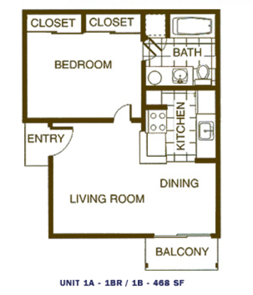 1 Bedroom 1 Bathroom Apartment for rent at Broadstone On Medical in San Antonio, TX