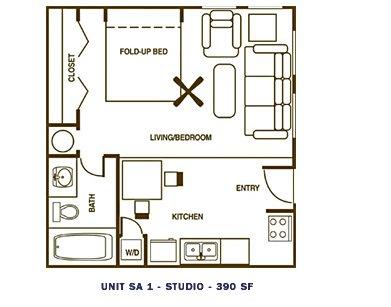 Studio 1 Bathroom Apartment for rent at Fountainhead Apartments in San Antonio, TX
