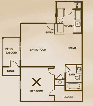 1 Bedroom 1 Bathroom Apartment for rent at Fountainhead Apartments in San Antonio, TX