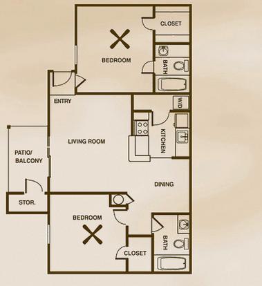2 Bedrooms 2 Bathrooms Apartment for rent at Fountainhead Apartments in San Antonio, TX