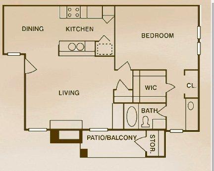 1 Bedroom 1 Bathroom Apartment for rent at Landera Apartments in San Antonio, TX