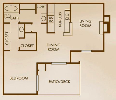 1 Bedroom 1 Bathroom Apartment for rent at Woods Of Elm Creek in San Antonio, TX