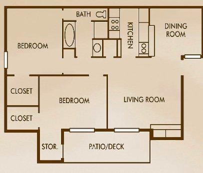 2 Bedrooms 1 Bathroom Apartment for rent at Woods Of Elm Creek in San Antonio, TX