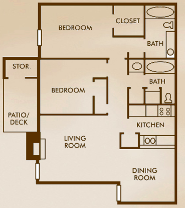 2 Bedrooms 2 Bathrooms Apartment for rent at Woods Of Elm Creek in San Antonio, TX
