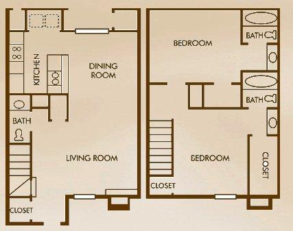 2 Bedrooms 3 Bathrooms Apartment for rent at Woods Of Elm Creek in San Antonio, TX