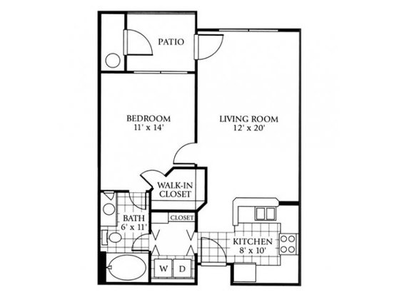 1 Bedroom 1 Bathroom Apartment for rent at Lowry Park in Denver, CO