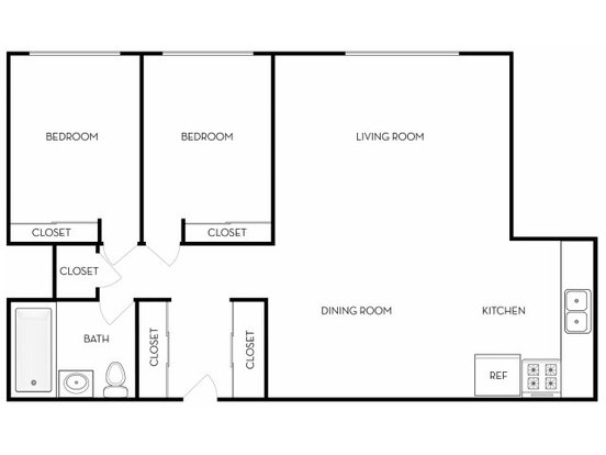 2 Bedrooms 1 Bathroom Apartment for rent at Brix On Belleview in Denver, CO