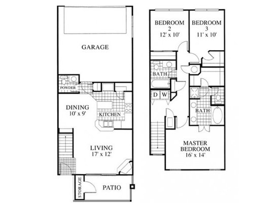 3 Bedrooms 3 Bathrooms Apartment for rent at Lowry Park in Denver, CO
