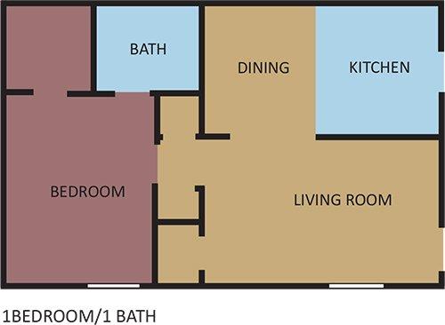 1 Bedroom 1 Bathroom Apartment for rent at Bella Vista in Memphis, TN