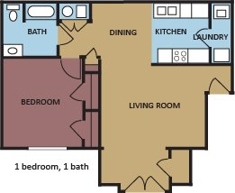 1 Bedroom 1 Bathroom Apartment for rent at Champion Hills At Windyke in Memphis, TN