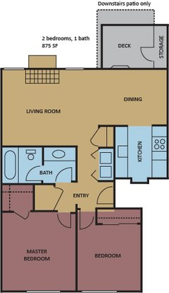 2 Bedrooms 1 Bathroom Apartment for rent at The Ellington At Kirby in Memphis, TN