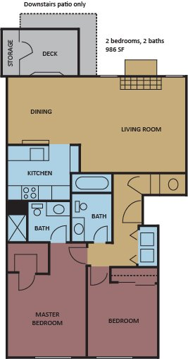 2 Bedrooms 2 Bathrooms Apartment for rent at The Ellington At Kirby in Memphis, TN