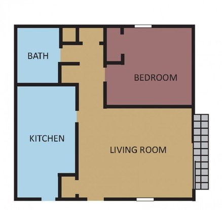 1 Bedroom 1 Bathroom Apartment for rent at Southernwood in Memphis, TN