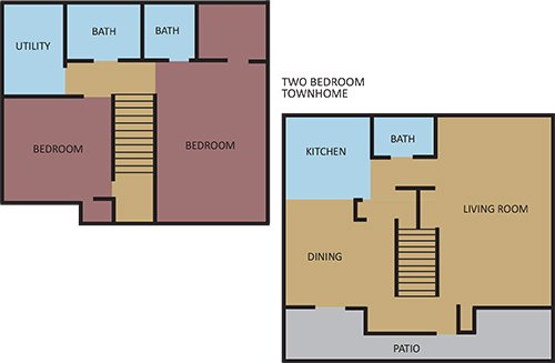 2 Bedrooms 3 Bathrooms Apartment for rent at Highland Hills in Memphis, TN