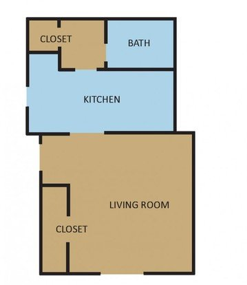 Studio 1 Bathroom Apartment for rent at Overton Place in Memphis, TN