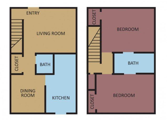 2 Bedrooms 2 Bathrooms Apartment for rent at Plum Tree in Memphis, TN