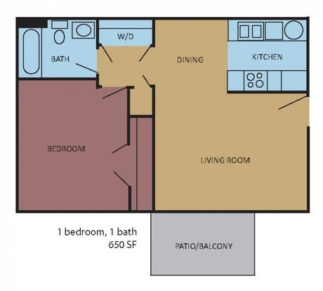 1 Bedroom 1 Bathroom Apartment for rent at Rocky Creek in Southaven, MS